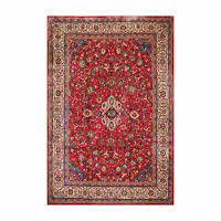 8'10'' x 12'9'' Vingage Hand Knotted 100% Wool Tabrizz Oriental Area Rug Red