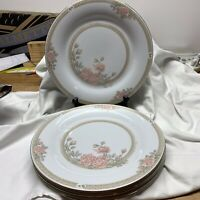 "CROWN MING FINE CHINA JIAN SHIANG CHRISTINA PATTERN 10.5"" Dinner Plates Set Of 4"