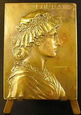 Medaille Lorraine de profil femme en coiffe traditionnelle 1900 Prud'homme Medal