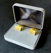 VINTAGE 1970'S BOXED  CUFFLINKS BY DIOR, PARIS