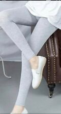 Ladies Viscose Leggings Black Summer Plain Stretchy Soft Elasticated Full Length