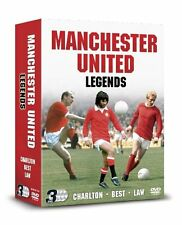 MANCHESTER UNITED LEGENDS - 3 DVD BOX SET - CHARLTON, BEST & LAW - FOOTBALL Club