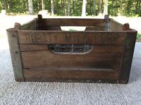 Purity Wooden Milk Crate or Wine Rack metal corners Chattanooga Tenn.