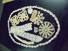 8 CROCHET PIECES - 3 EDGING AND 5 PATTERN PIECES