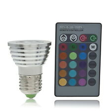 5W E27 Multi Color Change RGB LED Light Bulb Lamp with Remote Control UL