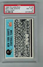 PSA GRADED 1966 PHILADELPHIA NEW YORK GIANTS TEAM CARD 118  NM-MT 8   VN 73