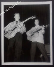 Original SCOTTY MOORE signed AUTOGRAPH photo Elvis Presley Rock and Roll