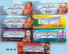 12/6 Packs Bindi Sticker Indian Temporary Reusable Tattoo Bridal Forehead Tikka