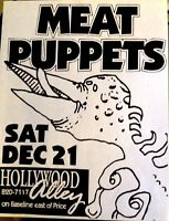 Meat Puppets - Original US concert flyer. Hollywood Near Mint.
