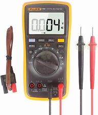 Fluke 17b Temperature Amp Frequency Digital Multimeter Acdc 600v Carrying Case