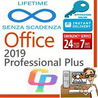 MICROSOFT OFFICE 2019 PROFESSIONAL PLUS 32/64 BIT CODICE ORIGINALE LICENZA ESD