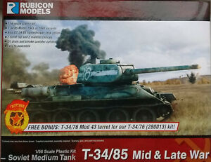 Rubicon 1/56 (28mm)  RB280021 Soviet T-34/85 (mid/late WW2) Tank Model Kit