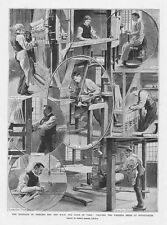 Weaving the Wedding Dress for Princess May at Spitalfields - Antique Print 1893