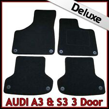 Audi A3 Mk2 3-Door 2003-2013 Tailored LUXURY 1300g Carpet Car Floor Mats BLACK