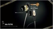 JVC Victor High-End Dual Dynamic In-ear Stereo Headphones HA-FXT90 Gold