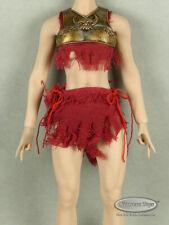 1/6 Scale Phicen, TBLeague Spartan Female Golden Chest Guard & Red Garment Set