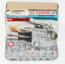 Vintage M-105 Armored Car Friction Powered Tank M.I Toy Made in Japan - Nm w/Box