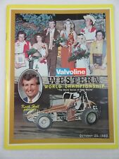 Vintage 1980 MANZANITA SPEEDWAY Arizona Valvoline Race Program