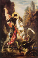 GUSTAVE MOREAU ST GEORGE ARTIST PAINTING REPRODUCTION HANDMADE CANVAS REPRO WALL