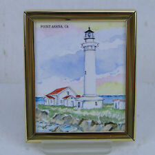 Donna Elias Souvenir Magnet Point Arena, CA Lighthouse Resort Graphics