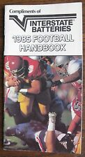Interstate Batteries 1985 Football Handbook (34-page booklet)