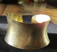 Hand-made Sterling Silver Cuff Bracelet, Gold Wash