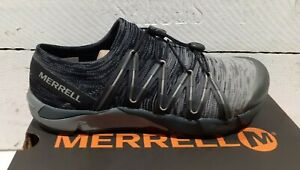 Ladies Merrell J12590 Black Bare Access Flex Knit Lace Up Vegan Trainers