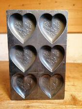 alte schöne Schokoladenform Herz chocolate mold Anton Reiche
