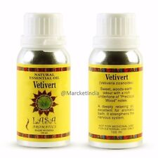 Lasa VETIVERT Natural Essential Oil - 100ml (3.3oz),Therapeutic Aromatherapy Oil