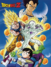 """NEW Official Great Eastern GE-57662 Dragon Ball Z Group 60"""" Soft Throw Blanket"""