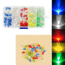 150pcs 3mm 5mm LED Light White Red Green Yellow Assorted Emitting Diode DIY Set