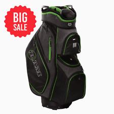 SALE Ram Golf Tour Cart Bag with 14 Way Dividers Top Black/Neon