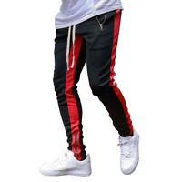 Men's Gym Joggers Pants Fitness Casual Slim Fit Workout Sweatpants Zipper Pocket