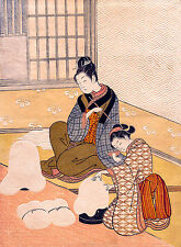 Suzuki Harunobu, Evening Snow on the Heater, Art Poster, Museum Canvas Print