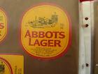 VINTAGE AUSTRALIAN BEER LABEL. CARLTON & UNITED - ABBOTS LAGER 750ML 58AL