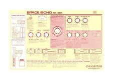 Nouveau Roland RE-201 Space Echo Instruction Sheet Fiche d'information pour bande retard Couvercle