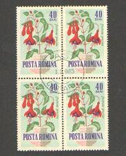 Q5689 - ROMANIA 1964 - QUARTINA USATA - FIORI - N. 1995 - VEDI FOTO