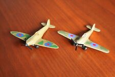 Matchbox 1973 Spitfire and unbranded Hawker Hurricane small metal models