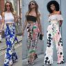 Women Boho Loose Wide Leg Pants Palazzo High Waist Casual Flared Yoga Trousers