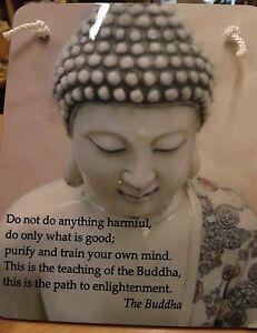 Buddha wall hanging , buddha plaque , positive message on buddha wall picture