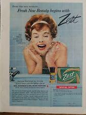 1959 Zest Soap Ceil Chapman Bleue perfume bottle vintage original ad
