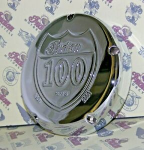 INDIAN MOTORCYCLE 02-03 CHROME DERBY CLUTCH COVER 100 YEAR CHIEF SPIRIT SCOUT