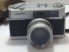 Minolta Hi-Matic7 35mm Range Finder Camera w/Rokkor-PF 1:18 f=45mm Lens Untested