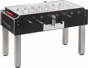 GARLANDO Class Professional Football Table with Glass Top