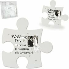 Wedding Frame Jigsaw Wall Art Said with Sentiment To Have and To Hold