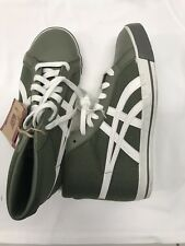 new Onitsuka Tiger Fabre high top - size 7 men's, 8.5 wmn's- Army green/white