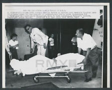 1957 Marlyn Monroe Carted into Hospital, Pregnant Actress Vintage Photo