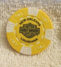 Harley Davidson New Orleans, LA Yellow & White Poker Chip