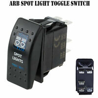 Spot Light 12V ARB Carling Rocker Waterproof Toggle Switch Blue LED Car Boat SS