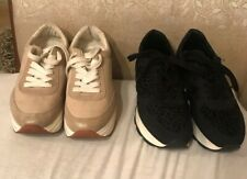 2 Pairs Women's Shoes EU 39 (US 8.5) ZARA BASIC COLLECTION Platform Sneakers
